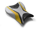 LuiMoto Team Suzuki Seat Covers 2007-2008 Suzuki GSX-R1000 - Cf Black/Silver/Yellow