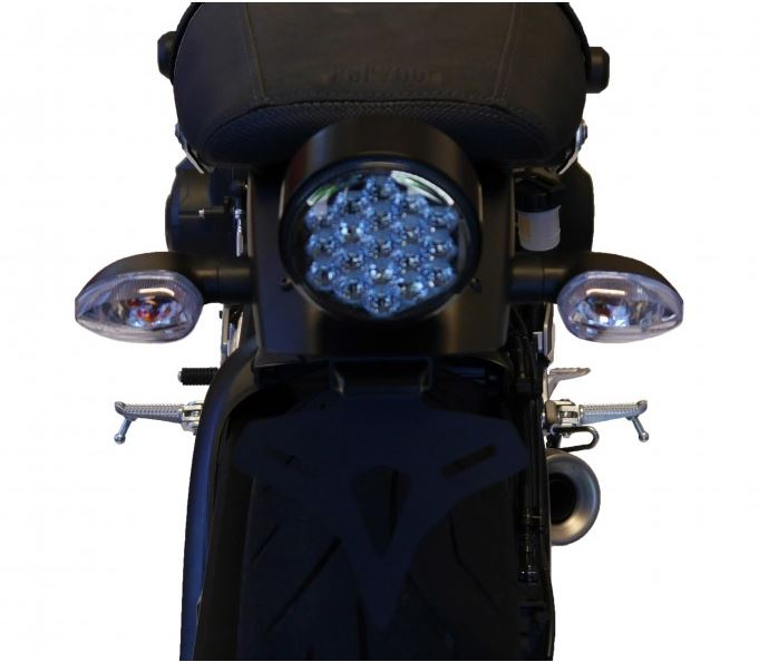 Tail Tidy Black CNC machined in UK by Evotech Performance YAMAHA XSR 700 2016