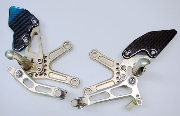 Attack Performance Adjustable Rearsets '05-'12 Kawasaki ZX6R, '13-'15 ZX6R 636 - Gold