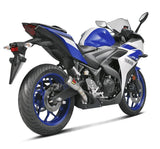 Akrapovic Slip-On Line (Stainless) Exhaust System for 2015-2018 Yamaha YZF R3
