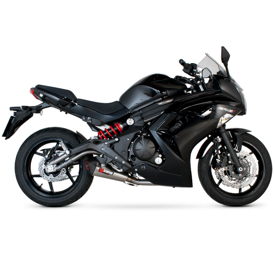 Scorpion Serket Taper Full Exhaust Systems for 2012 Kawasaki ER6n, ER6f (Ninja 650)