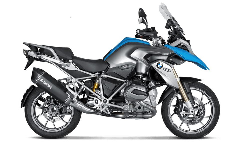 Akrapovic Slip-On Line (Titanium Black) Exhaust System for 2013-2015 BMW R1200GS [S-B12SO10-HAABL]