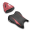 LuiMoto Raven Edition Seat Cover 06-07 Yamaha YZF-R6 - Cf Black/Deep Red
