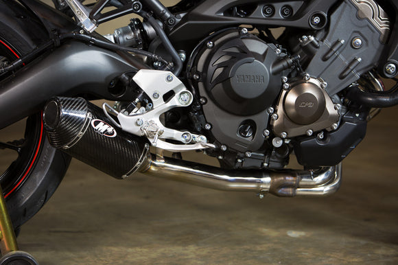 M4 Carbon Fiber Slip-On Exhaust System For 2014-2018 Yamaha FZ-09 / MT-09