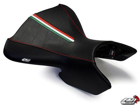LuiMoto Team Italia Front Seat Cover 04-09 Ducati Multistrada - Red Stitching