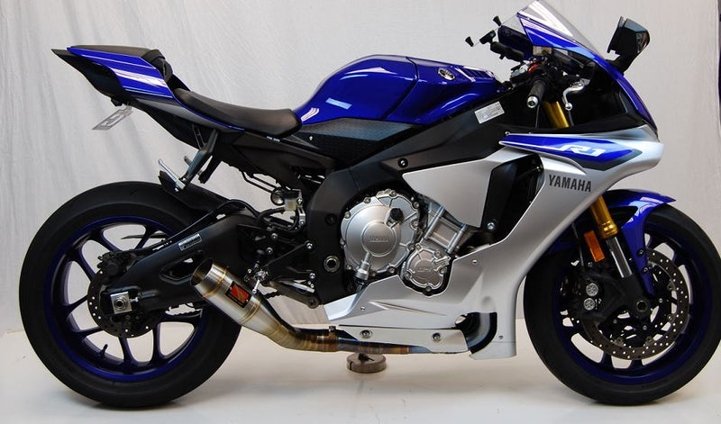 Competition Werkes GP Stainless Steel Slip-On Exhaust for 2015-2017 Yamaha YZF R1/R1M/R1S
