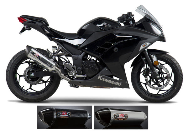 Yoshimura R77 Slip-on Exhaust Systems for '13-'17 Kawasaki Ninja 300