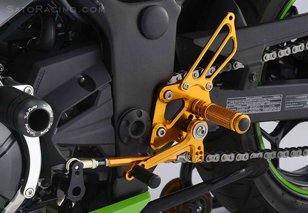 Sato Racing Adjustable Rearsets for 2013-2015 Kawasaki Ninja 300 / 250