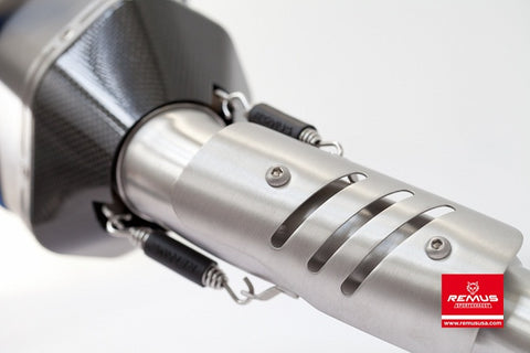 Remus HexaCone Slip-on Exhaust System for 2010+ Triumph Sprint GT 1050 - motostarz.com