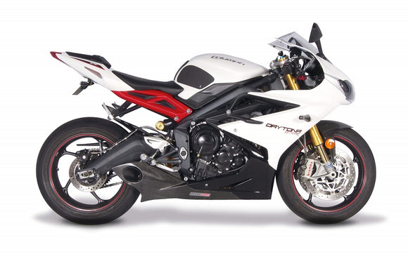 Taylormade Racing GP Slip On Exhaust w.Carbon Fiber Trim for 2013-2015 Triumph Daytona 675/R