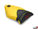 LuiMoto Technik Edition Seat Covers for 2009-2011 BMW S1000RR - Black/Cf Black/Yellow