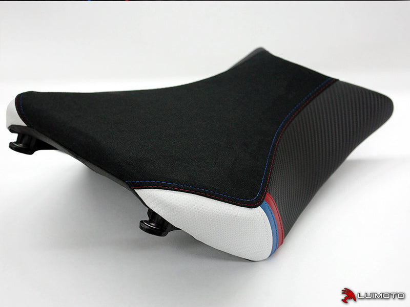 LuiMoto Motorsports Edition Seat Cover 2012 BMW S1000RR - Black Suede/Cf Pearl