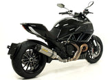 ARROW Race Tech Approved Titanium Carbon Cap Slip On Exhaust 2011-12 Ducati Diavel