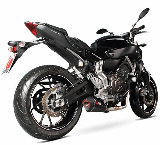 Scorpion Serket Taper Full Exhaust System for '14-'19 Yamaha FZ-07/MT-07