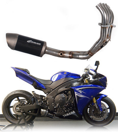 Graves Motorsports Full Stainless Steel Low Mount Exhaust System '09-'14 Yamaha R1 - motostarz.com