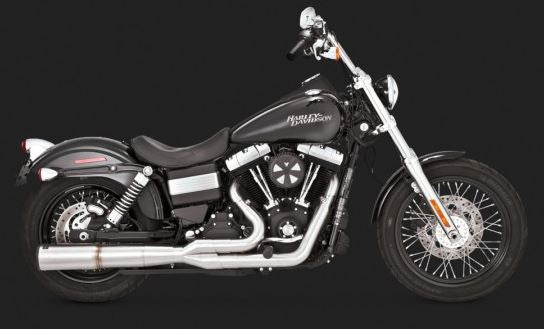 Vance & Hines Stainless Hi-Output 2-into-1 Exhaust System '06-'14 Harley-Davidson Dyna [27523]