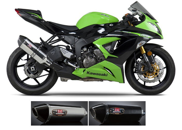 Yoshimura Street R77 Slip-on Exhaust System for '13-'18 Kawasaki ZX6R 636