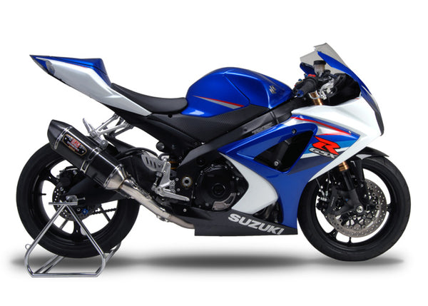 Yoshimura Race R-77 Stainless/Carbon Single Slip-On Exhaust System for '07-'08 Suzuki GSXR 1000