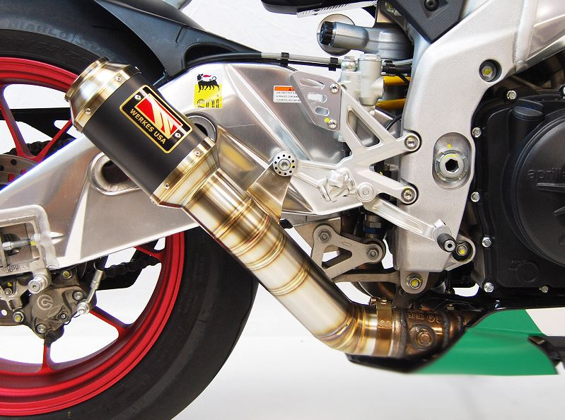 Competition Werkes GP Race Stainless Steel Slip-on Exhaust 2015-2017 Aprilia RSV4RR/RF