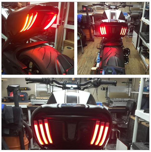 New Rage Cycles Run + Brake + Turn Signals For Ducati Diavel