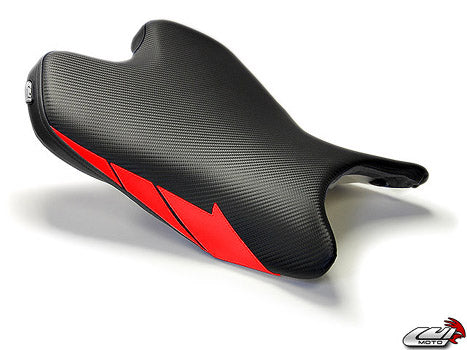 LuiMoto Team Yamaha Seat Cover 2008-2015 Yamaha YZF R6 - Cf Black/Red
