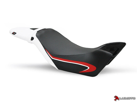 LuiMoto Team Triumph Seat Cover 2011-2015 Triumph Speed Triple / R - CF Black/White/Red