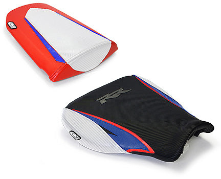 LuiMoto Tribal Blade Seat Cover 07-12 Honda CBR600RR - Cf Black/Red/Blue