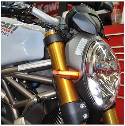 New Rage Cycles Front Turn Signals 2014-2016 Ducati Monster 821/1200
