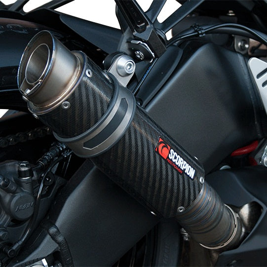 Scorpion RP-1 GP Slip-on Exhaust System for '13-'18 Kawasaki ZX6R 636