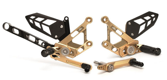 Gilles Tooling Adjustable Rearsets 2016-2017 Yamaha FZ-10 / MT-10 | MUE2-Y02