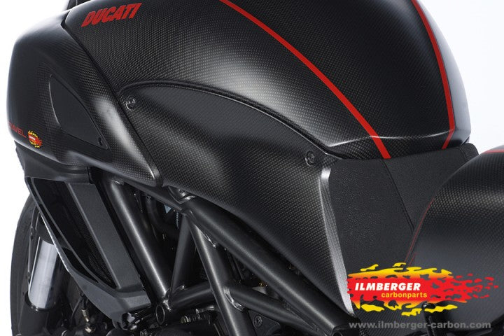 ILMBERGER Carbon Fiber Tank Side Panel (Left) 2011-2012 Ducati Diavel