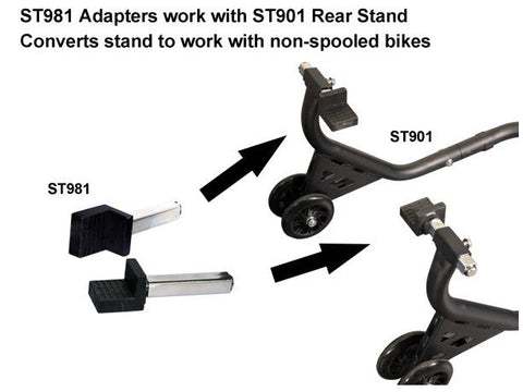 Vortex Rear Stand Adapters for Non-Spooled Bikes