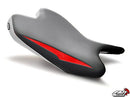LuiMoto Raven Edition Seat Cover '08-'16 Yamaha YZF R6 - Silver/Red/White - motostarz.com
