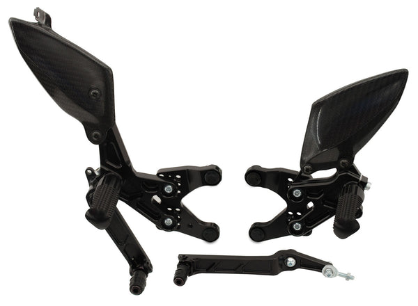 Graves Motorsports Adjustable Rearsets for '09-'14 Yamaha YZF R1