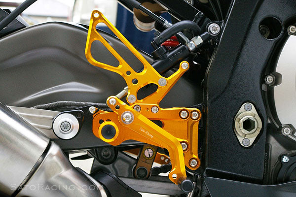 Sato Racing Adjustable Rearsets for 2009-2014 BMW S1000RR