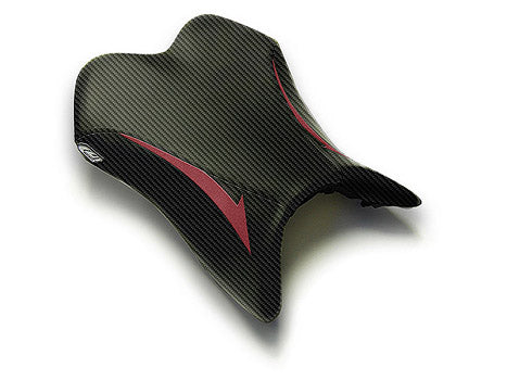 LuiMoto Raven Seat Cover 2007-2008 Yamaha YZF R1 - CF Black/Deep Red