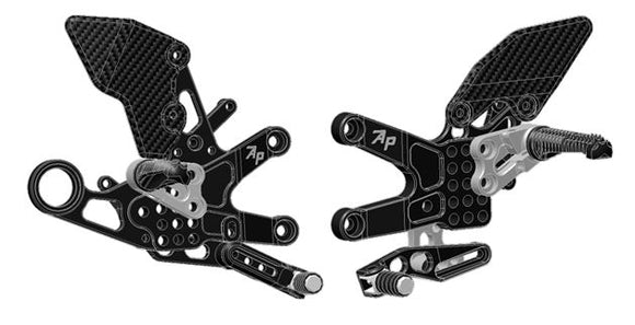 Attack Performance Adjustable Rearsets 2010-2014 BMW S1000RR - Black