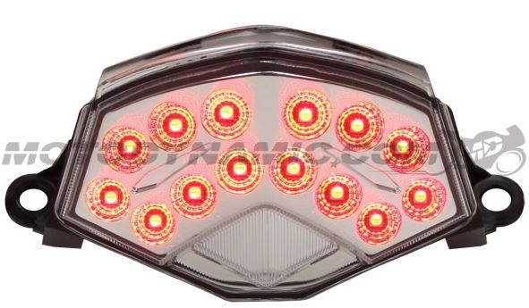 Motodynamic Sequential LED Tail Light For '09-'12 Kawasaki ZX6R, '08-'10 ZX10R, '07-'09 Z1000 - Clear