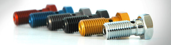 Spiegler Colored Aluminum Anodized Single Banjo Bolts