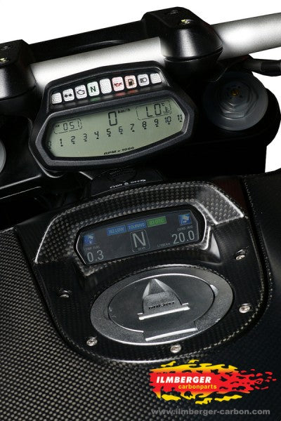 ILMBERGER Carbon Fiber Instrument Cover 2011-2012 Ducati Diavel