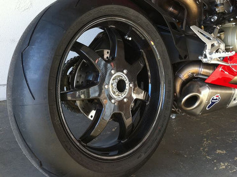 "BST 6"" x ""17 Carbon Fiber Rear Wheel for Ducati 1098/R/S, 1198, 1199 Panigale, Streetfighter, Monster 1200"