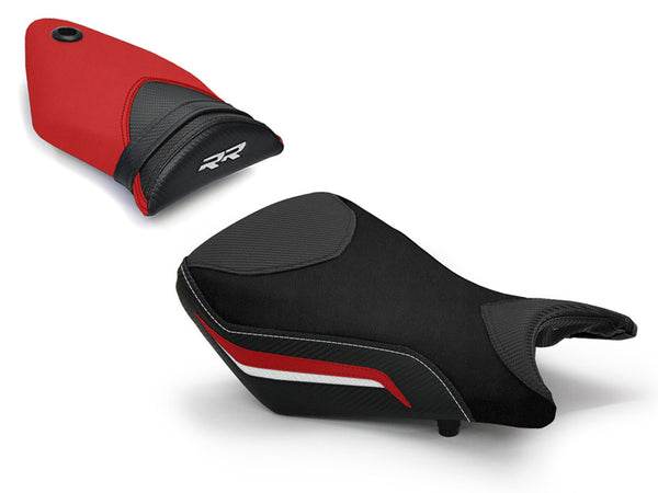 LuiMoto Technik Edition Seat Cover 2012-214 BMW S1000RR - Cf Black/Black/Red
