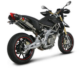Akrapovic Hexagonal Titanium Slip-on Exhaust Systems for 2008-2015 Aprilia Dorsoduro 750