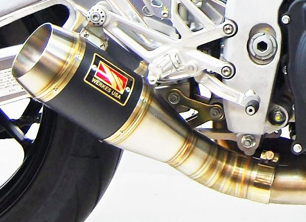 Competition Werkes Stainless Steel Slip-on Exhaust 2017-2018 Aprilia RSV4RR/RF