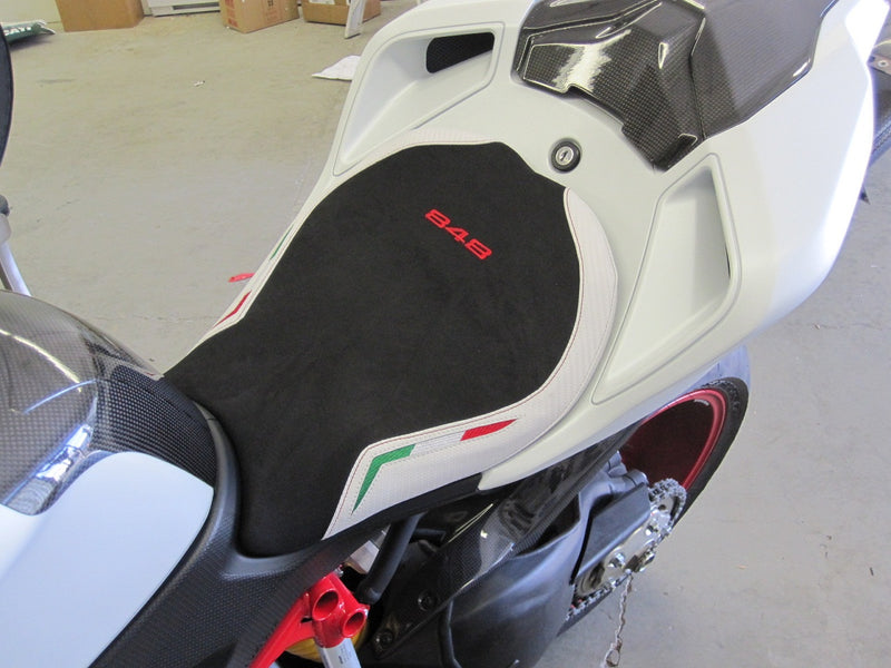 LuiMoto Team Italia Seat Cover with Red 848 Logo Uprade
