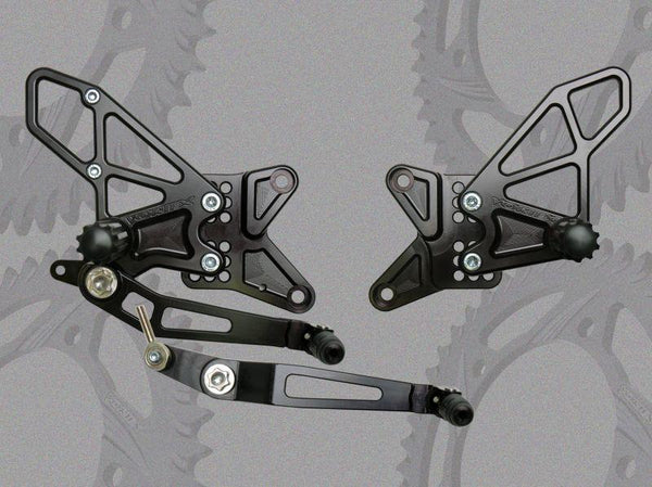Vortex V2 Adjustable Rearset for 2009-2013 Yamaha YZF R1