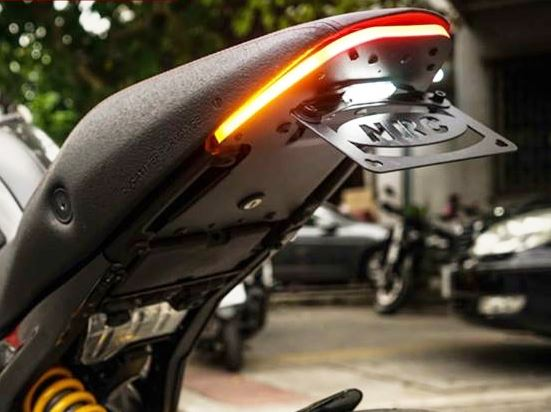 New Rage Cycles Fender Eliminator Kit + Integrated Tail Light For Ducati Monster 696/796/1100