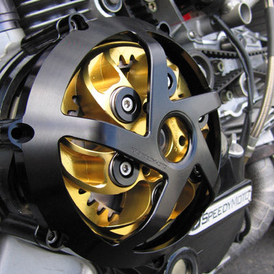 SpeedyMoto Ducati Dry Clutch Five Spoke Engine Cover - Black