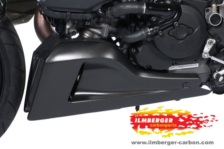 ILMBERGER Carbon Fiber Bellypan Left Side 2011-2012 Ducati Diavel