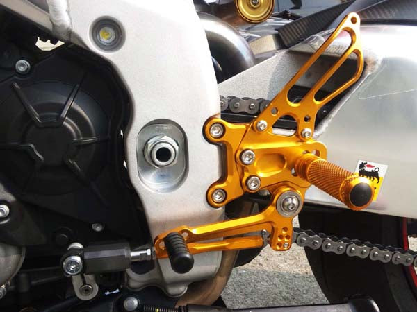 Sato Racing Adjustable Rearsets 2011-2013 Aprilia RSV4 APRC